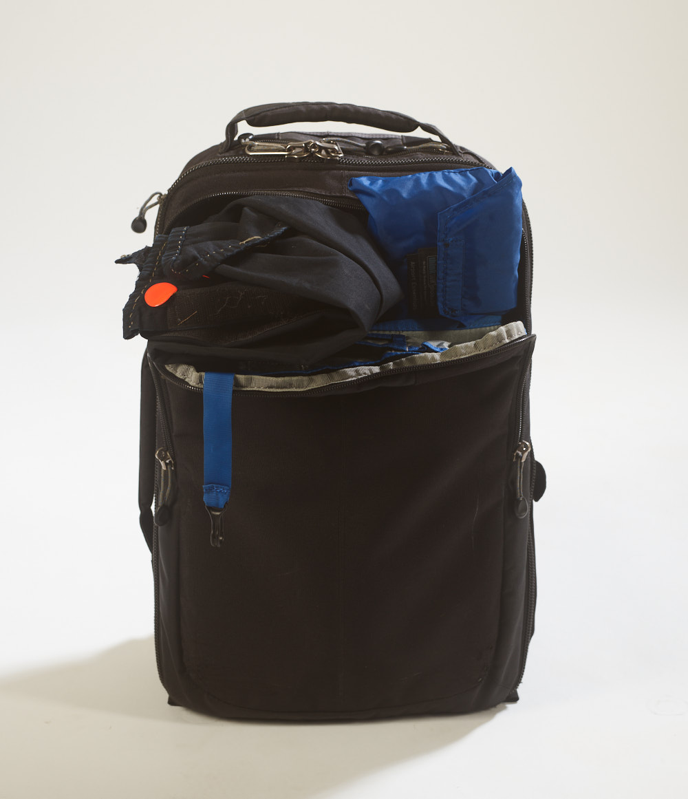 Think Tank bag with waterproof cover and hood